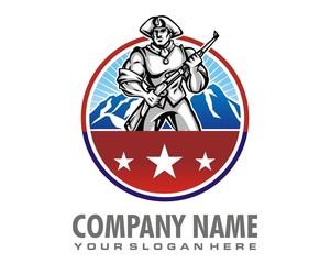 soldier logo image vector