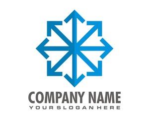 snowflakes logo image vector