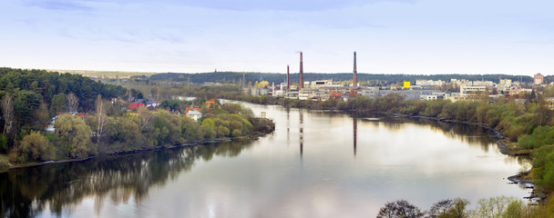 Industrial landscape near a river