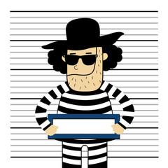 Prisoner vector cartoon