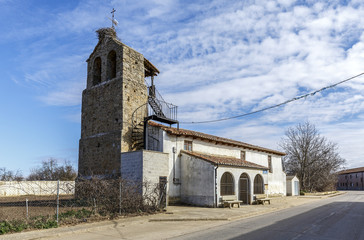 Villafale parish church in the municipality of Villasabariego