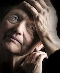 old woman - depression