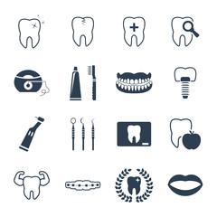 Dental and teeth health icon set
