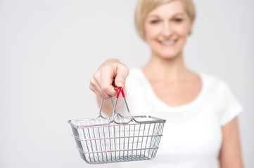 Shopping is easy in online.