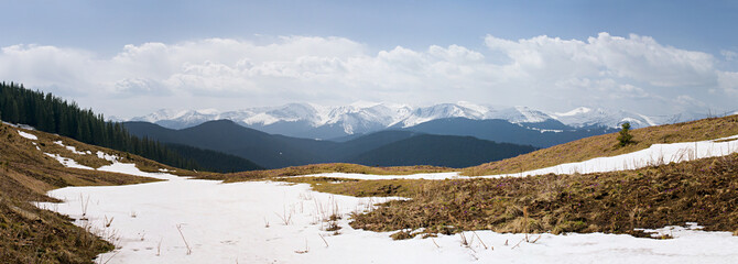 Panorama of the mountain range