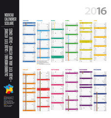 Calendrier 2016 - MODIFIABLE