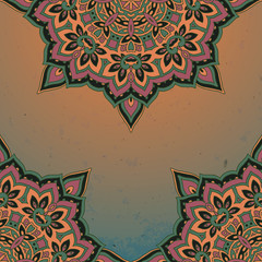Pattern of the indian floral ornament with a lot of details and