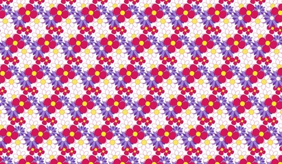 Illustrator texture background with flowers