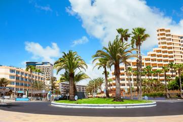 Playa del Ingles city. Maspalomas. Gran Canaria.