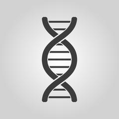 The dna icon. Genetic symbol. Flat