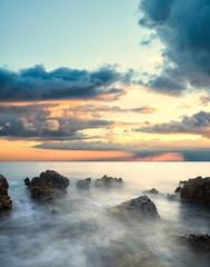 dramatic sea