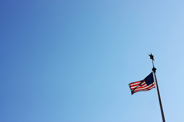 Glory, US banner, flag, sky, blue, sign