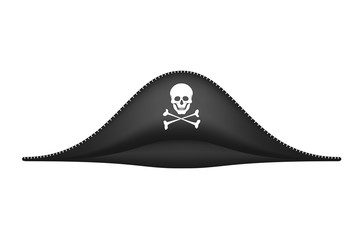 Pirate hat with skull symbol