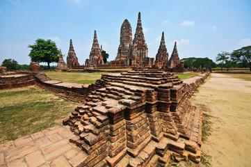 Old Temple wat Chaiwatthanaram of Ayuthaya Province