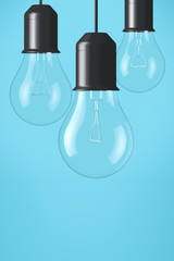 Light bulbs hanging background