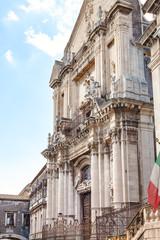 facade of Church San Benedetto in Catania