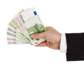Holding euro currency