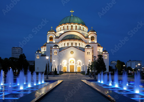 Fotobehang Oost Europa Cathedral of Saint Sava in Belgrade