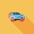 Постер, плакат: Transportation Sports Utility Vehicle flat icon with long shadow