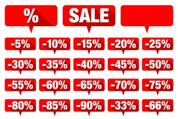 Red Speechbubbles Sale