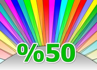 % 50 discount