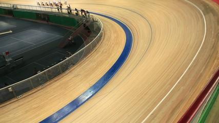 bike track racing motion blur