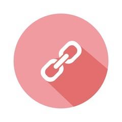 Icono enlace rosa botón sombra