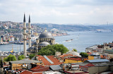 View of Yeni Mosque and Bosphorus, Istanbul