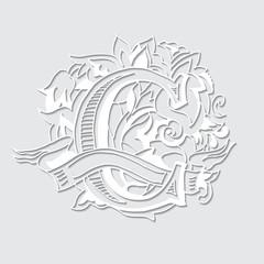 Alphabe. Letter C