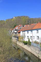 Oberschloss Kranichfeld mit Ilm (12. Jh., Thüringen)