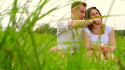 Happy Couple Relaxing Outdoor