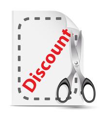 Icon for a discount coupon. Vector