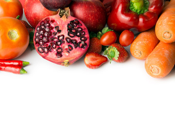 Red vegetable and fruit