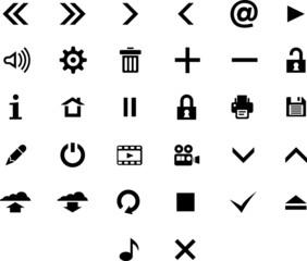 Vector black 32 web icon set.