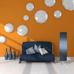 3d rendered modern interior.
