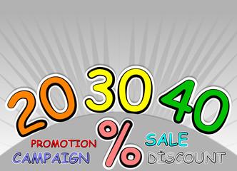 % 20, 30, 40 discount
