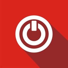 Icono on rojo sombra