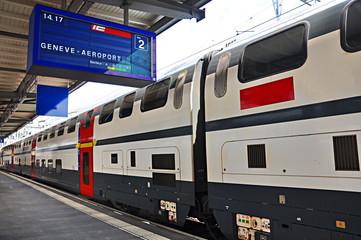 Estación de tren de Ginebra, Suiza, ferrocarriles