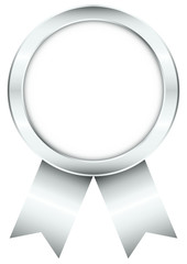 Silver Round Award Badge