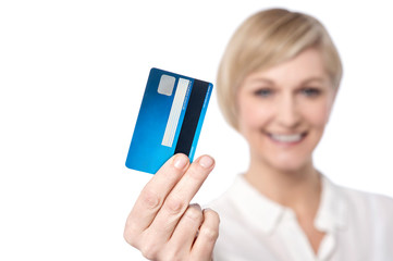 Credit card, shopping made easy