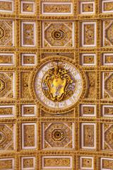 Pope Pius VI seal in the Saint Peter's Bailica