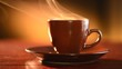 Coffee or Tea. Cup of Hot Espresso