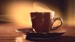 Coffee. Cup of Hot Espresso