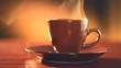 Cup of Hot Espresso Coffee Closeup