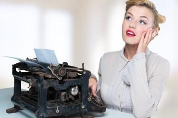 Writer. Happy typist