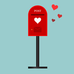 postbox  with love