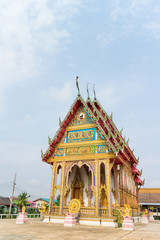 Temple under sunlight and clear sky at Wat Khok Chindaram