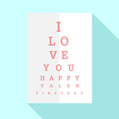 Happy Valentines Day with Eyes Chart