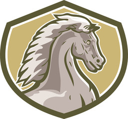 Colt Horse Head Side Shield Retro