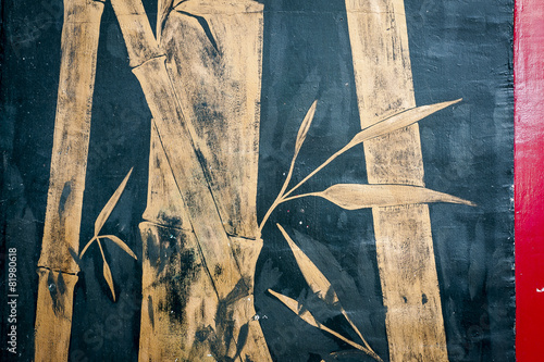Graffiti zen bambous © PicsArt